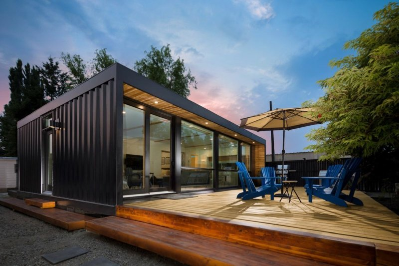 Traumhaus Wohncontainer mit Veranda