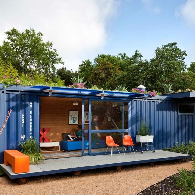 Ferienhaus Wohncontainer schmal mobil