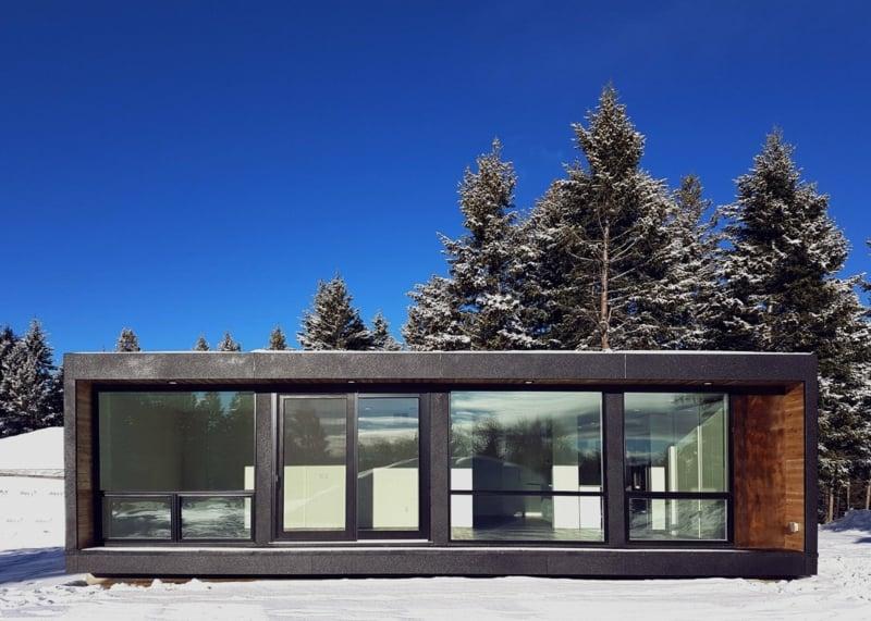 Container Haus einstöckig klein modern