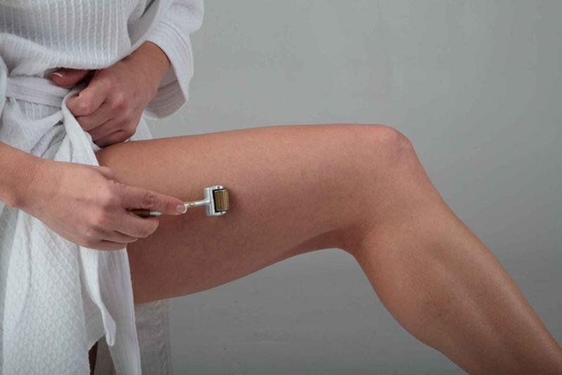 Dermaroller gegen Cellulite Oberschenkel