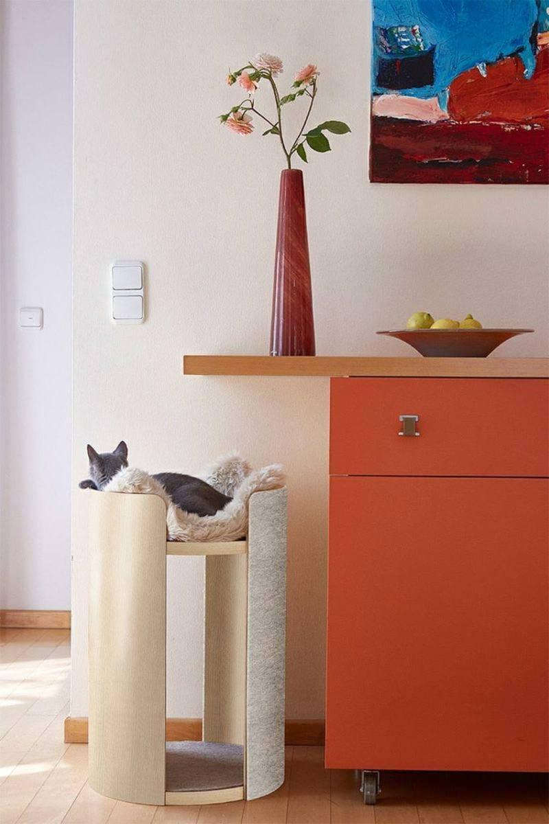 Kratzbaum Katze Designer herrlicher Look
