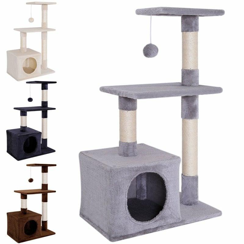 Katzenbaum mit Spielhaus verschiedene Modelle