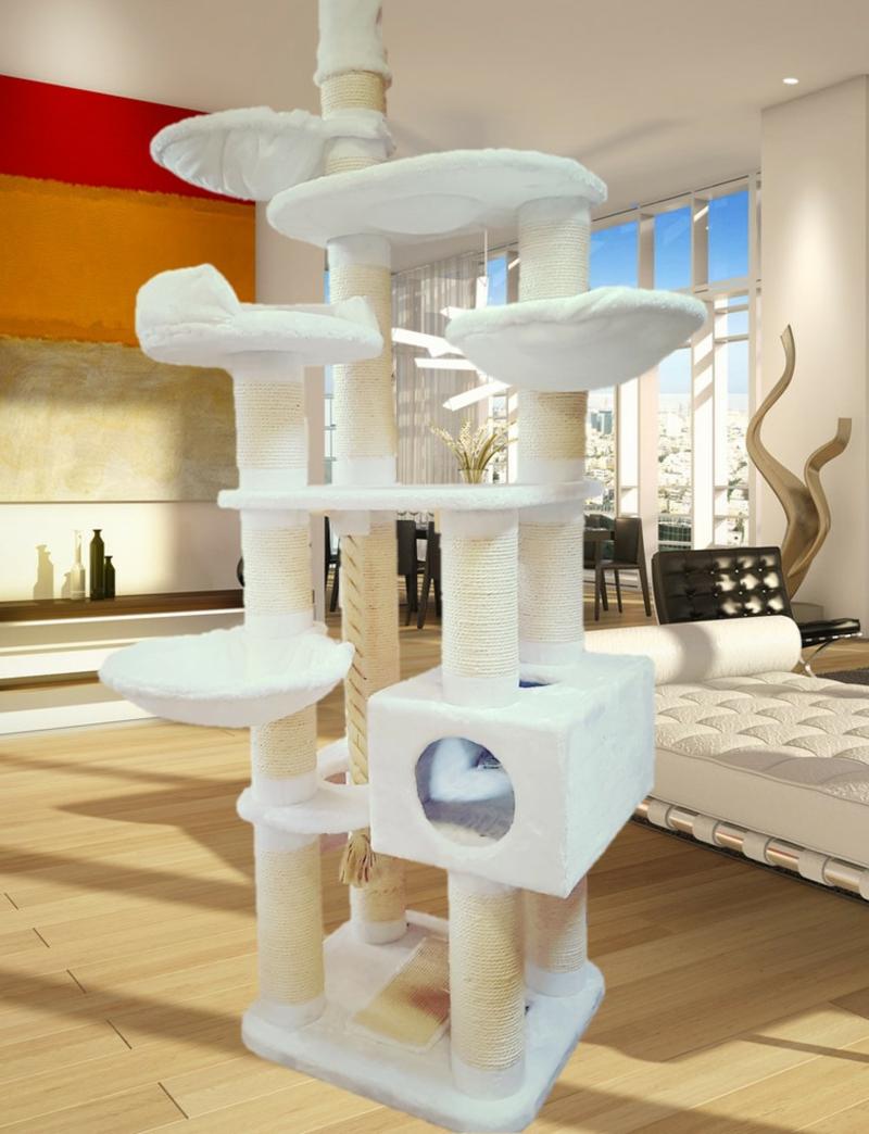 Katzenbaum groß viele Plattformen