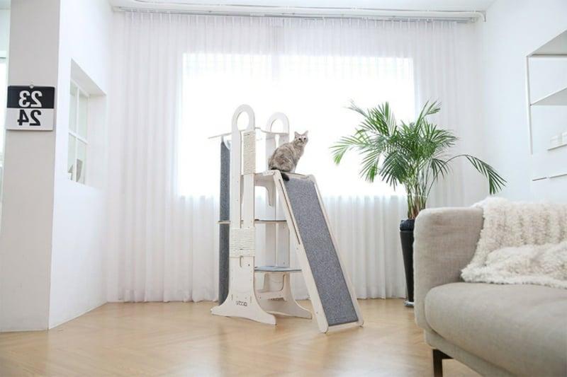 DEsigner Katzenbaum mit Rutsche modern