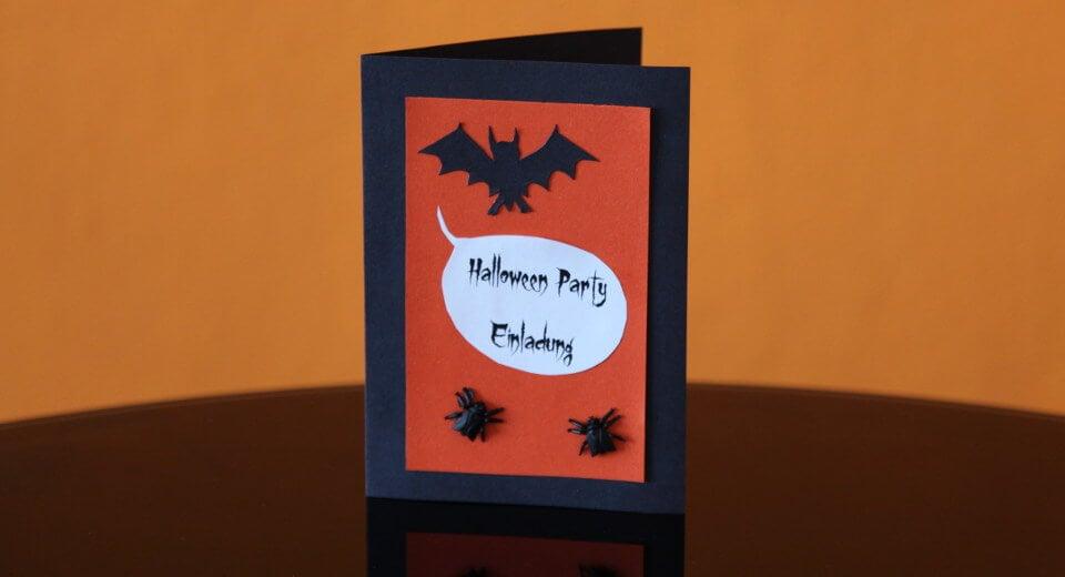 Einladungskarte Halloween schönes Design