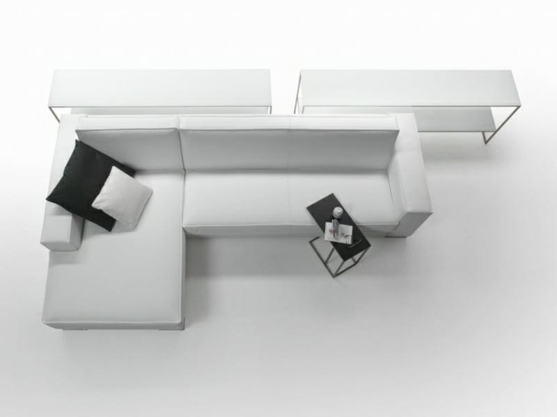 Schlafsofa mit Bettkasten weiß stilvoll Designer Modell