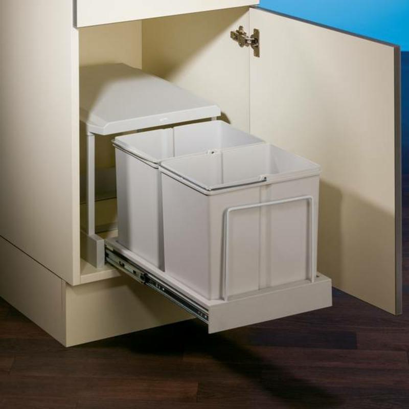 Mülleimer Küche versteckt eingebaut Schrank