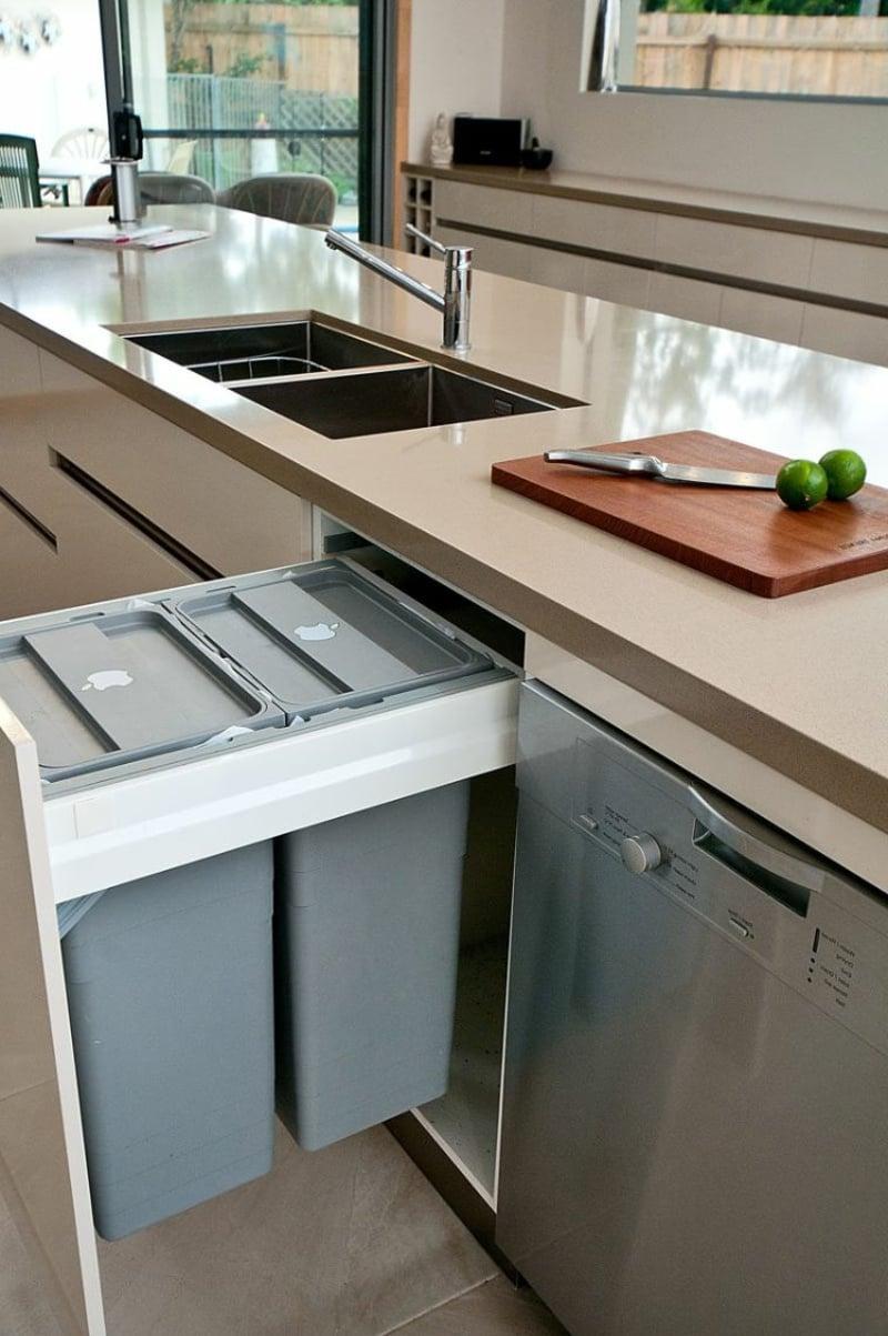 Mülleimer Küche eingebaut Vorteile