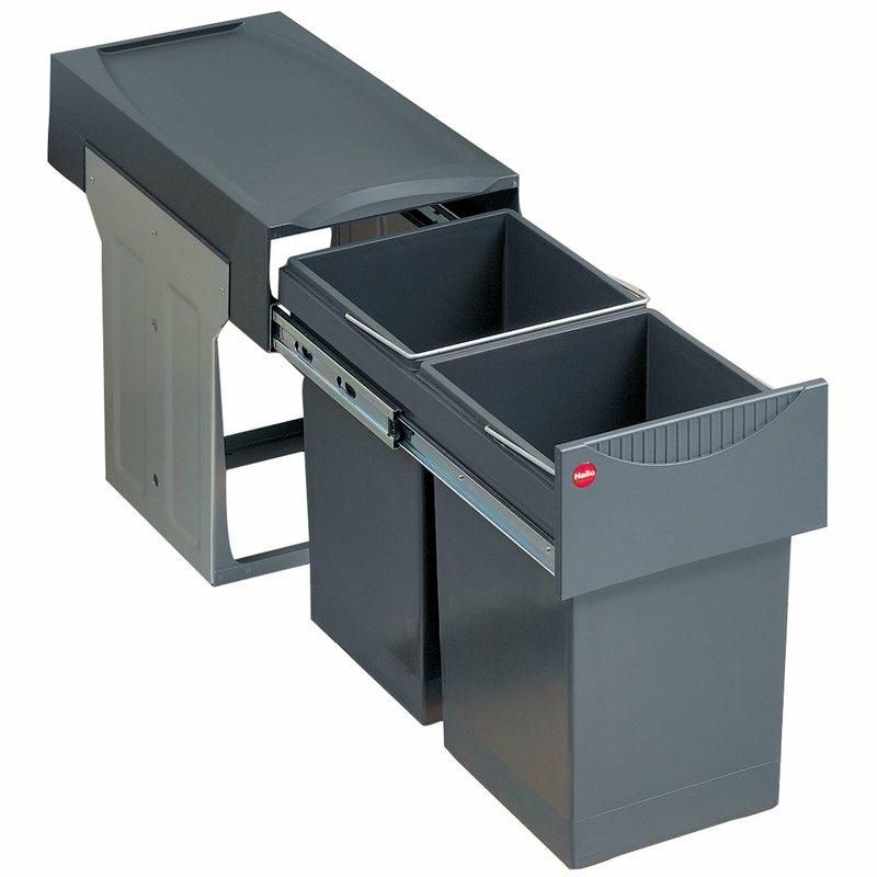 Einbau-Abfalleimer mit Deckel Metall