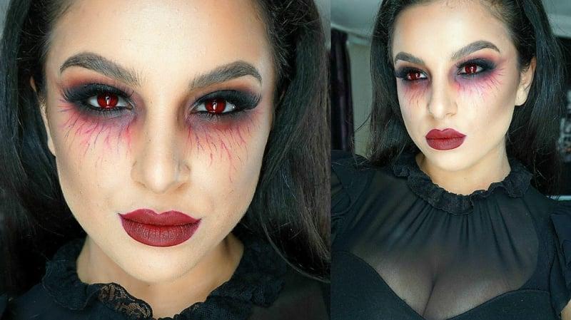 Halloween Schminken Vampir Make-up