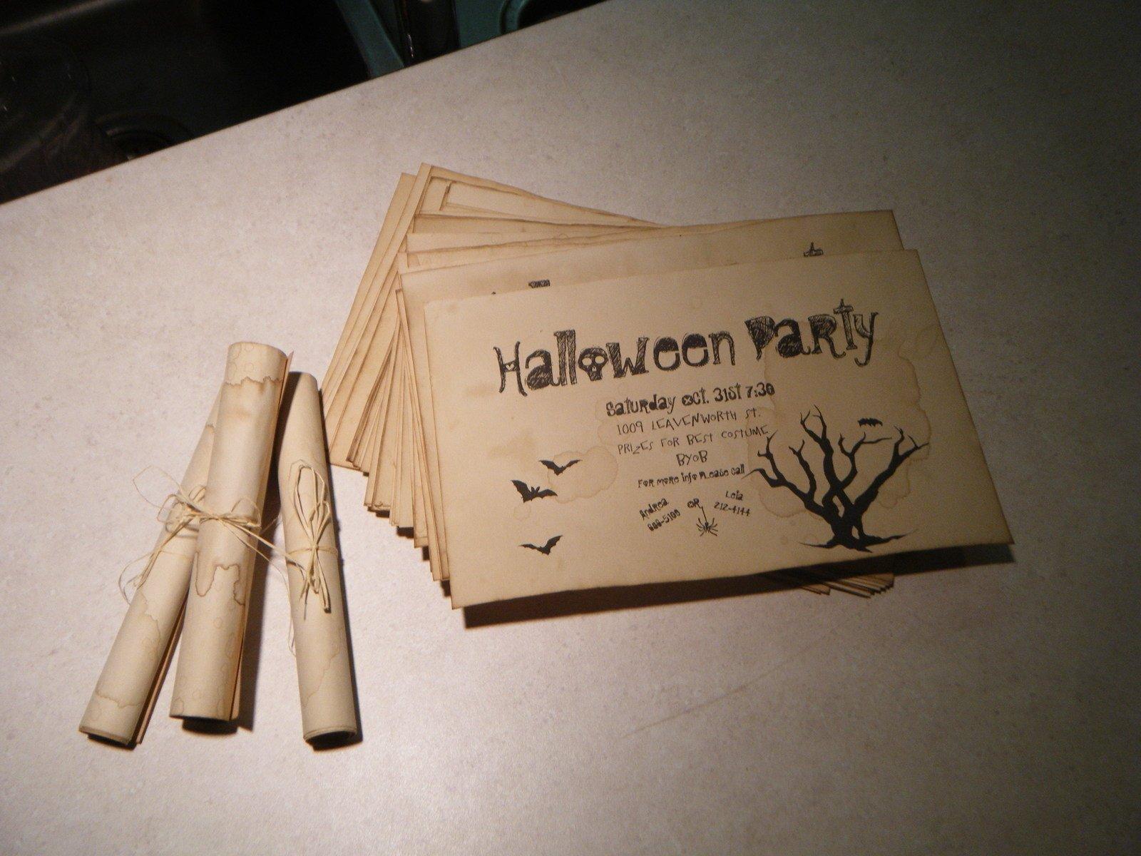 Einladungskarte Halloween Design persönliche Botschaften