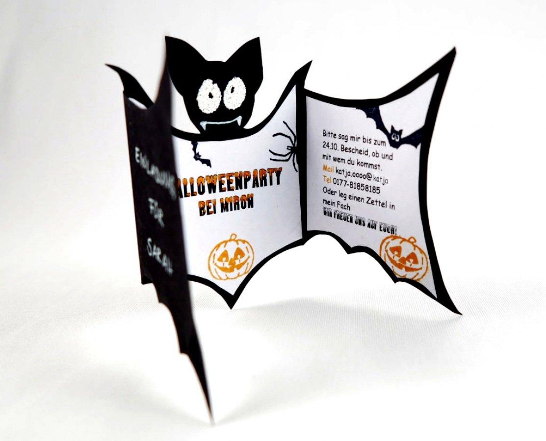 Fledermaus Einladung origineller Look