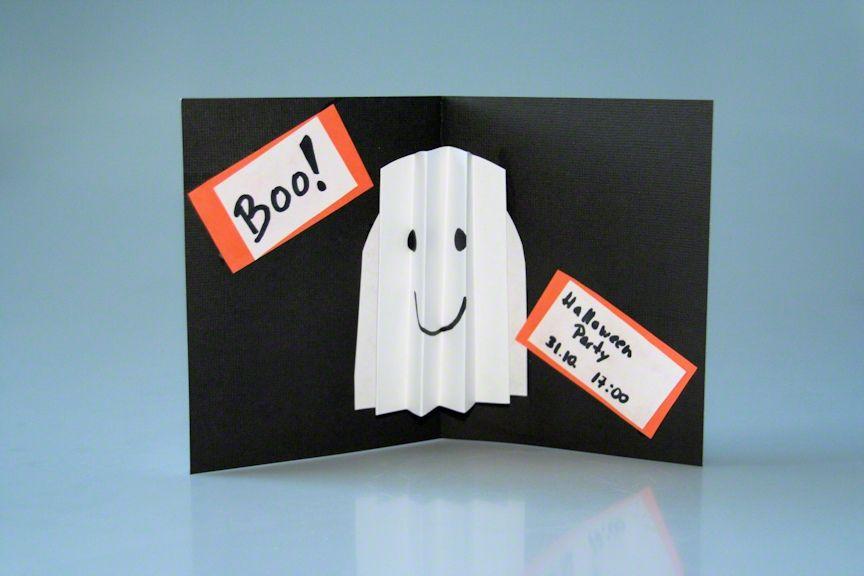 Einladungskarte Halloween basteln mit Kindern