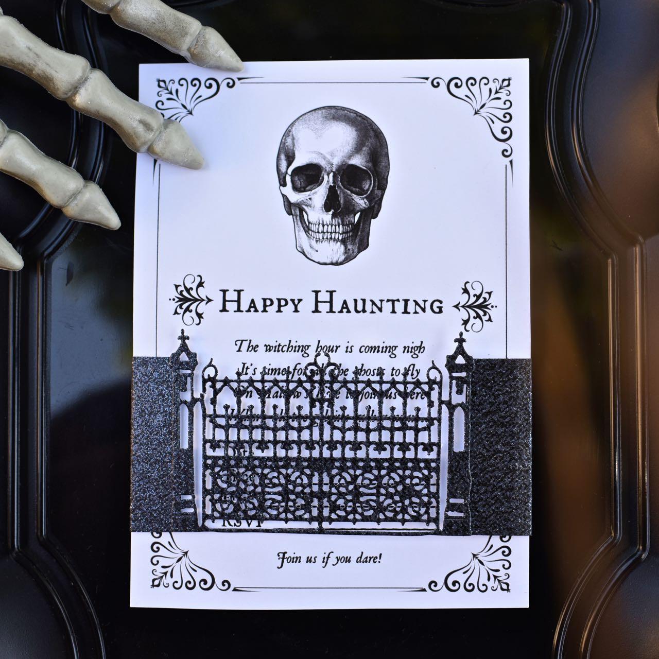 Einladungskarte Halloween stilvoller Look