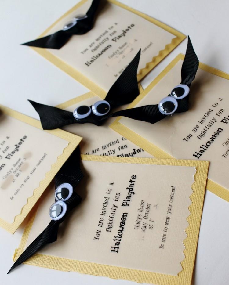 Einladungen aufpeppen kleine Fledermäuse