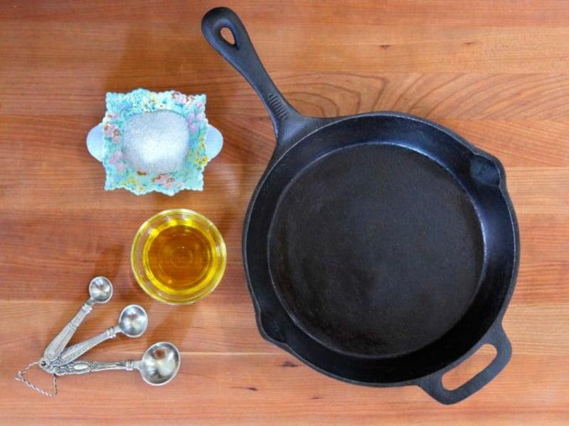 kochen in Gusseisenpfanne