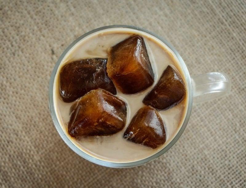 Kaffee gefroren Eiswürfel tolle Idee Sommer