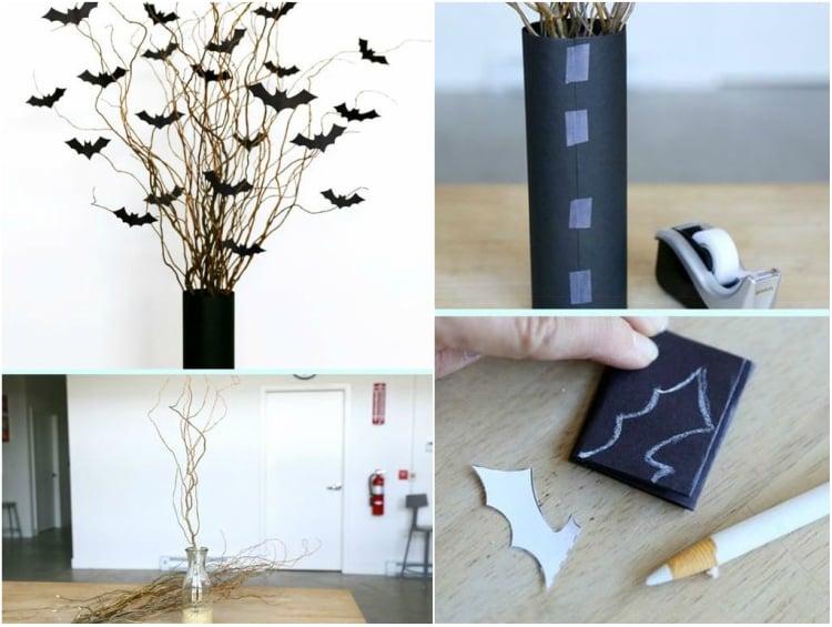 Halloween Deko selber machen Fledermäuse