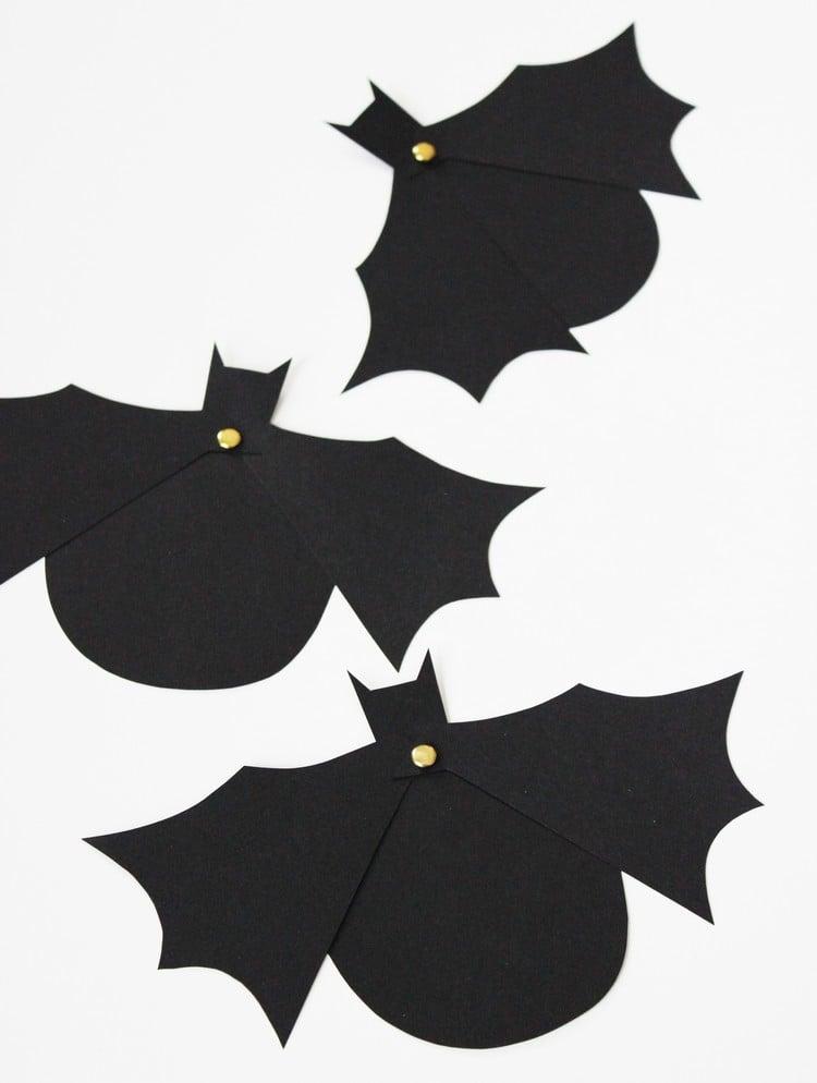 Einladungskarte Halloween Fledermäuse bewegliche Flügel