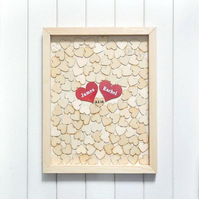 Gästebuch Hochzeit Mosaik aus Herzen romantisch