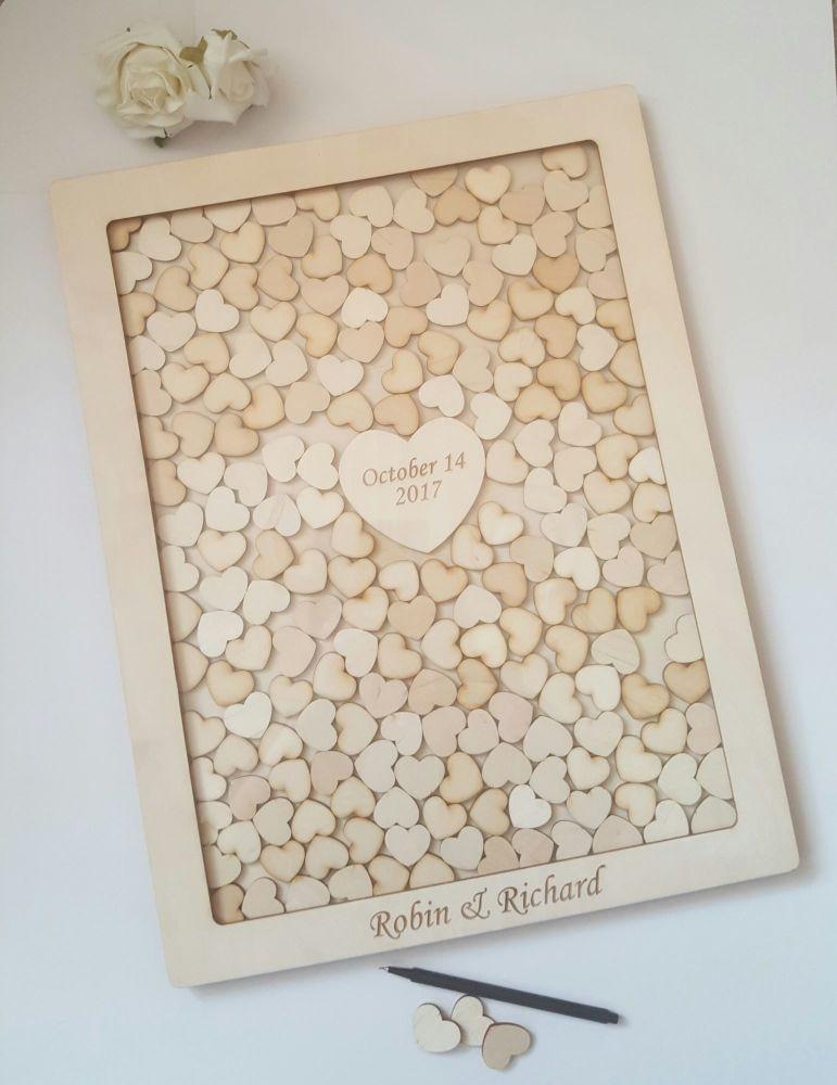 tolle Mosaik Herzen Hochzeitsbuch