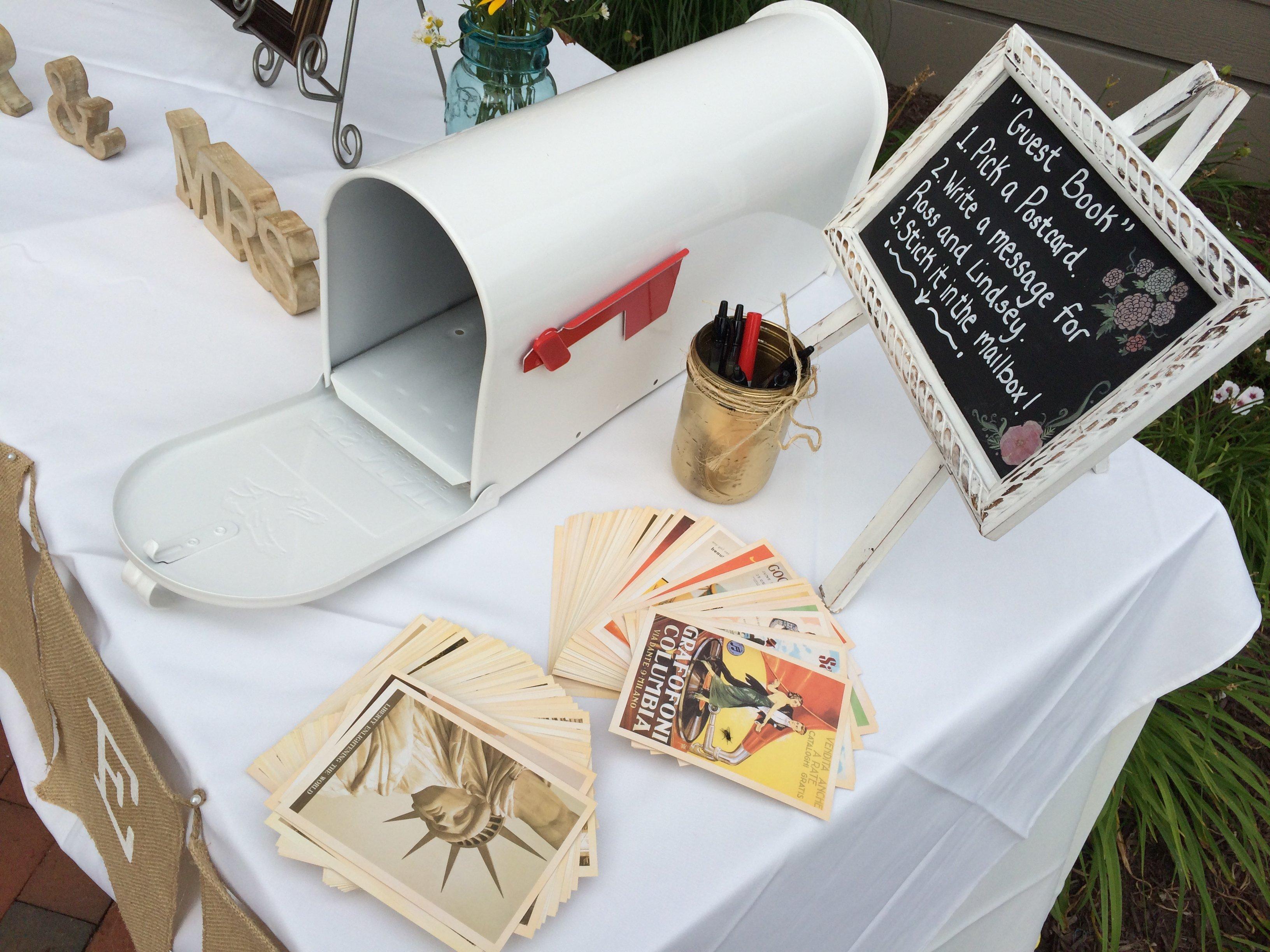 persönliche Botschaften Postkarten Hochzeitsbuch