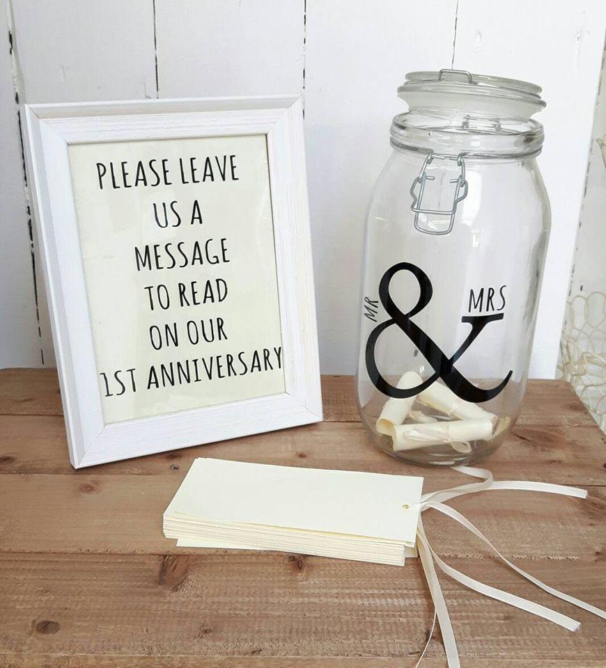 Briefe in Flasche Gästebuch Hochzeit