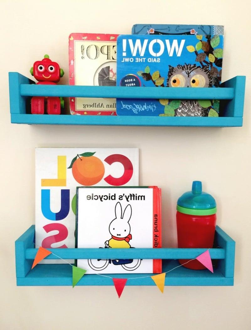 IKEA Hacks Gewürzregal für Bücher verwenden Kinderzimmer