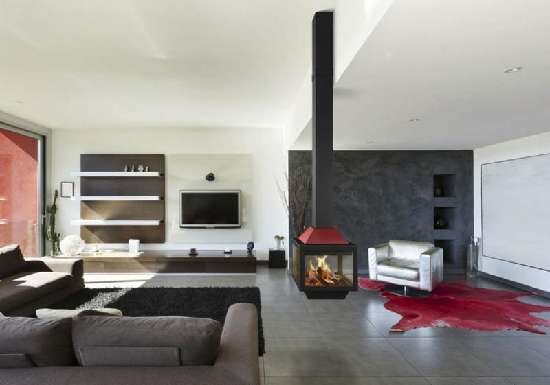 dekorativer Hängekamin minimalistisch