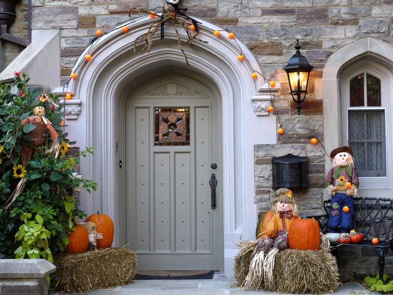 tolle Herbstdeko Hauseingang