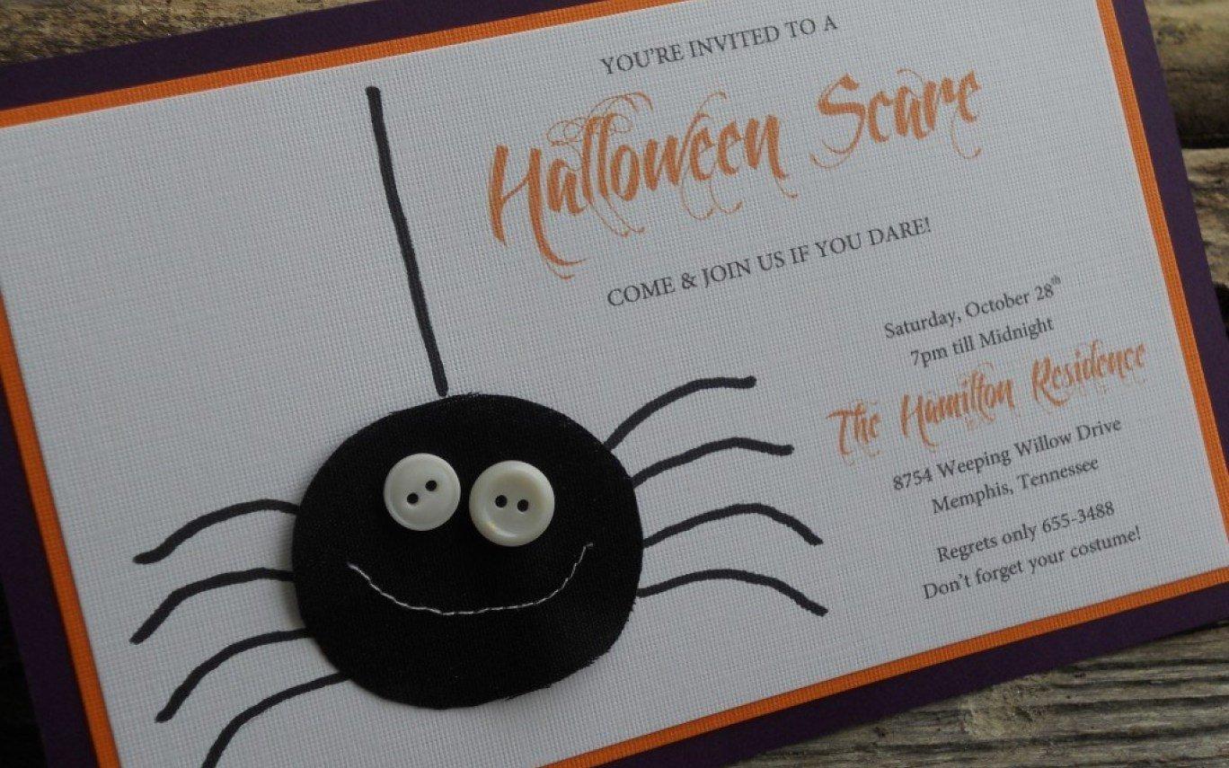 Einladungskarte Halloween Spinne originell