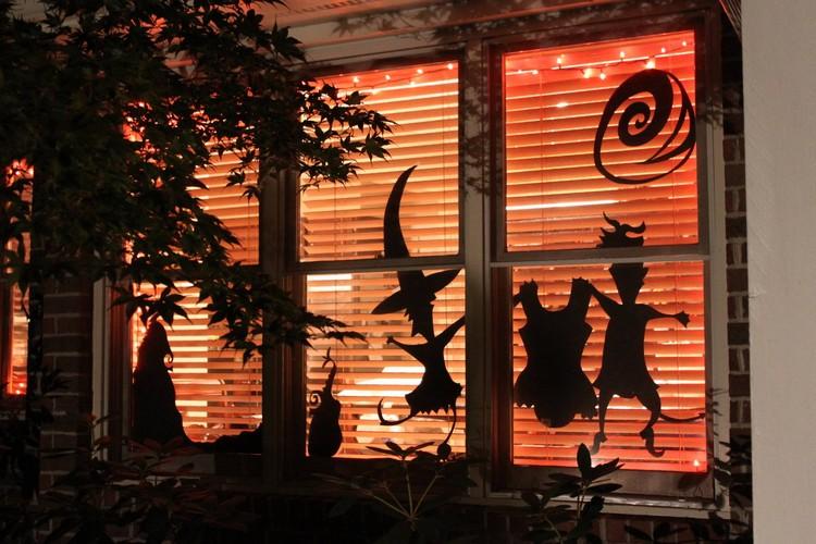 Halloween Deko eindrucksvolles Fensterbild DIY