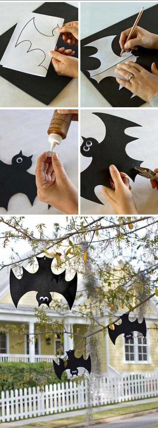 Halloween Deko Garten Fledermäuse