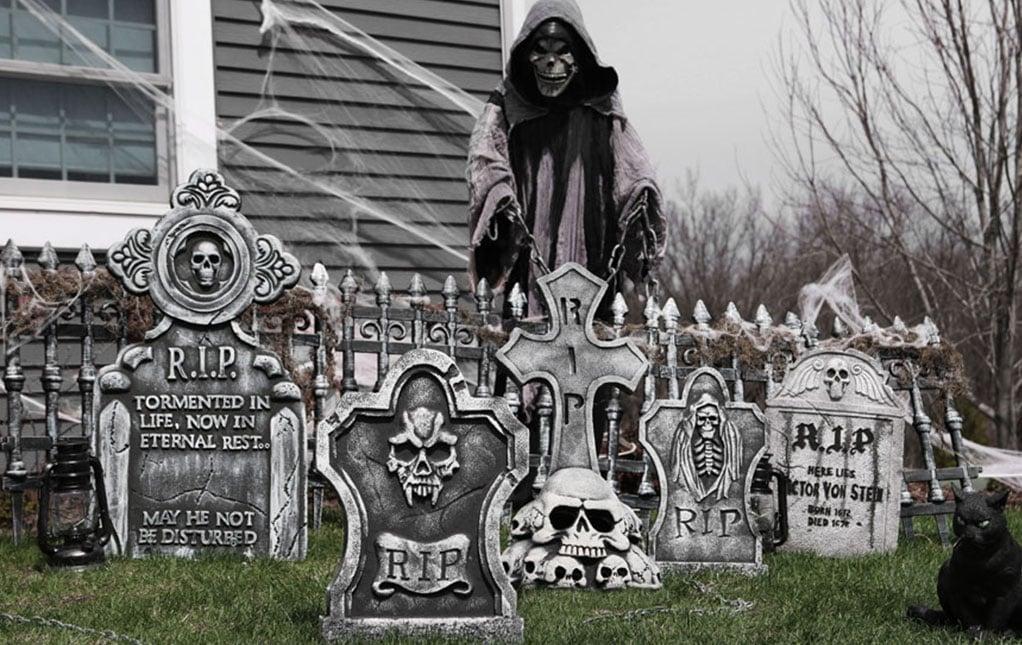 Halloween Deko Garten Freidhof