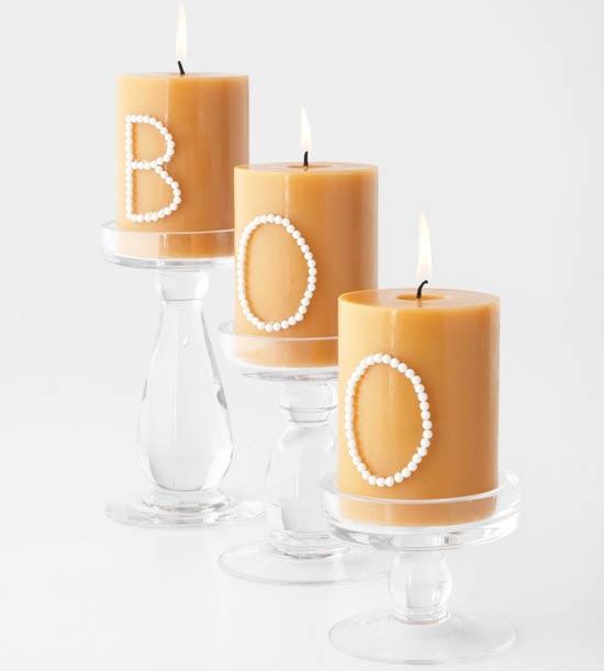 Halloween Deko hübsche Kerzen orange
