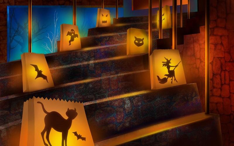 Halloween Deko eindrucksvolle Laternen aus Papier