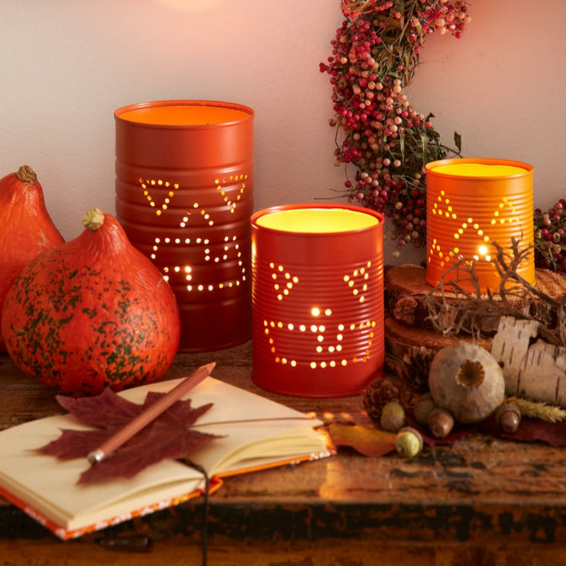 originelle Windlichter DIY Halloween Deko