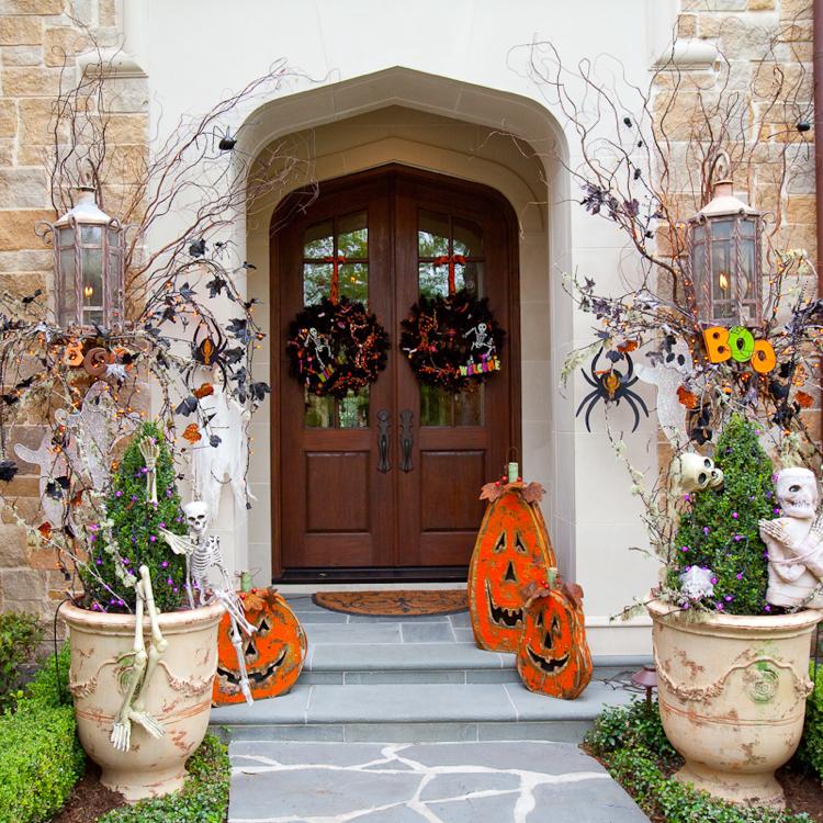 Terrasse und Hauseingang dekorieren tolle Ideen