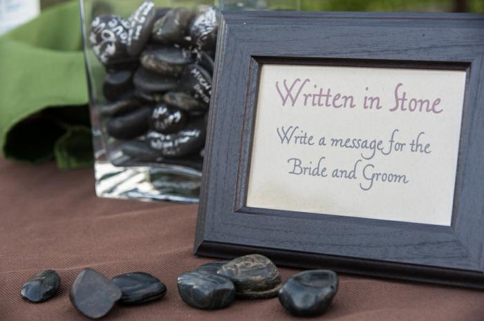 Gästebuch Hochzeit ungewöhnlich Steinchen