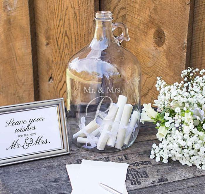 Gästebuch Hochzeit Flaschenpost kreative Idee