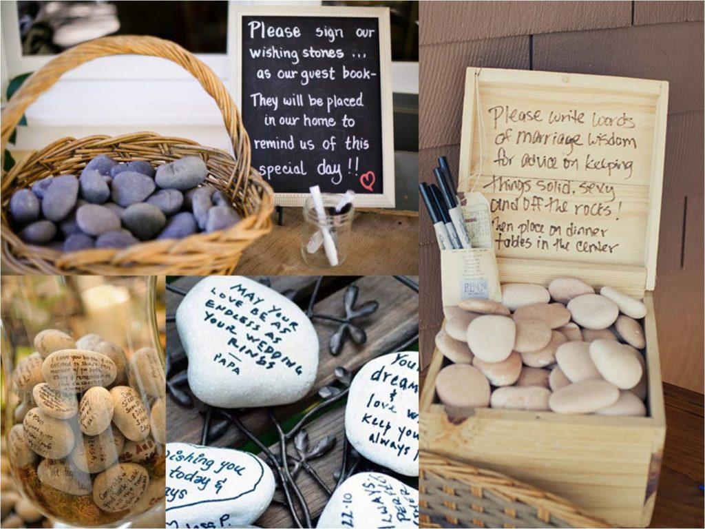 Gästebuch Hochzeit tolle Ideen auf Steinchen schreiben