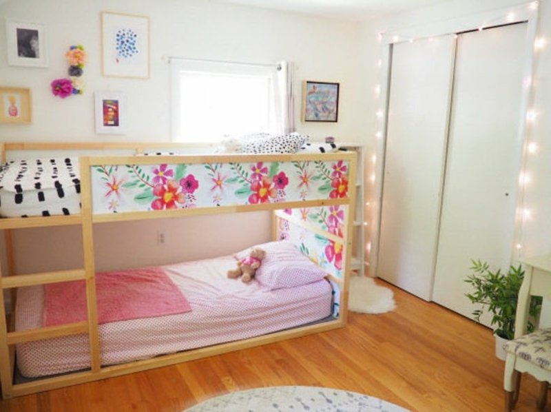 IKEA Hacks Kinderzimmer IKEA Kura Bett dekorieren cool
