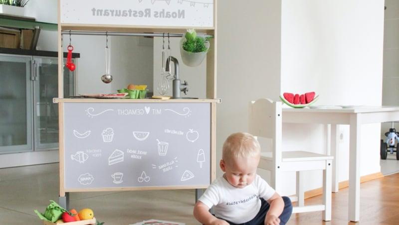 IKEA Hacks Kinderzimmer Spielküche gestalten