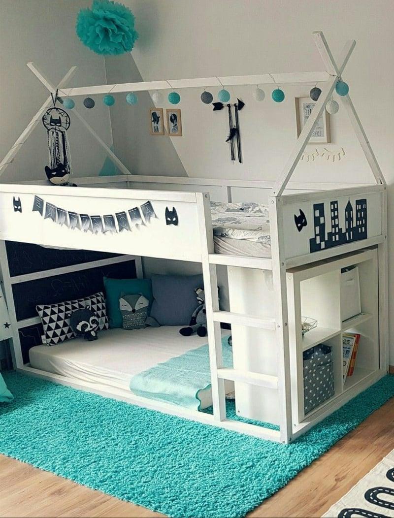 IKEA Hacks Kinderzimmer IKEA Kura Bett umgestalten
