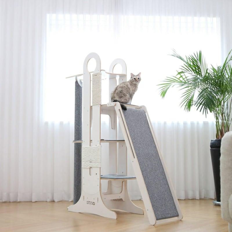 Designer Katzenbaum groß Rutsche