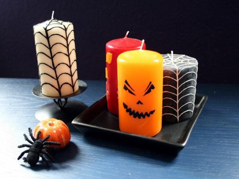 Halloween Deko Kerzen aufpeppen