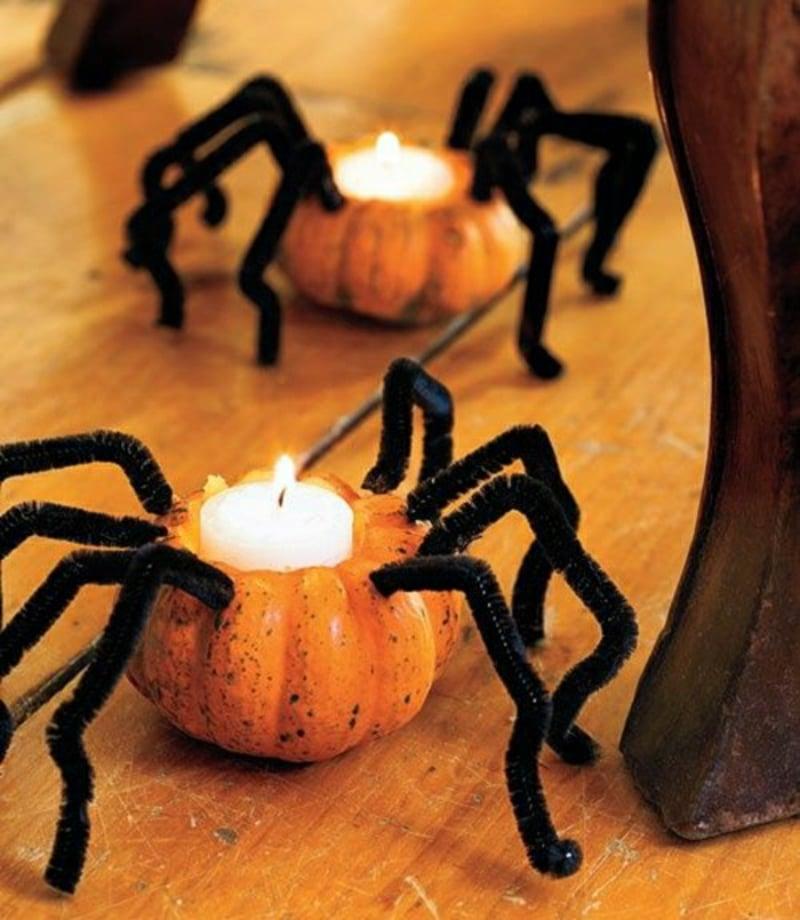 Kerzenhalter gestalten aus Zierkürbissen