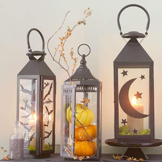 herrliche Kerzenlaternen Terrasse dekorieren