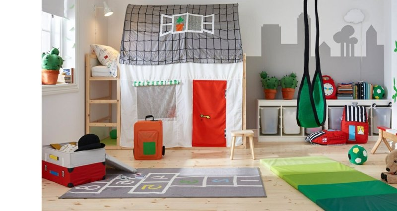Spielhaus Kinderzimmer IKEA Bett