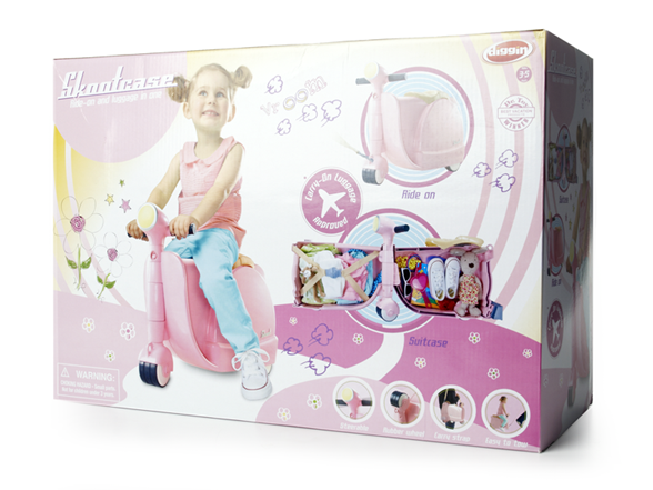 Kinderkoffer Scooter rosa Mädchen